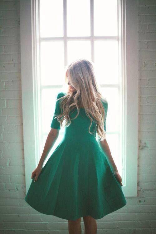 Robe verte d'eau <3