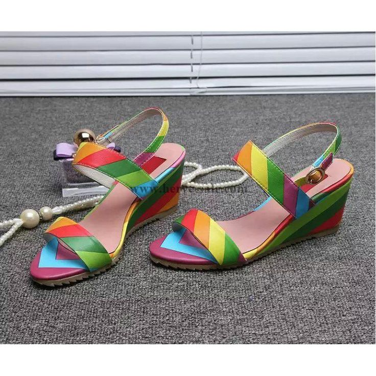 Valentino Women Rainbow 70mm Heels 34-39 Sandals valenw2015062605