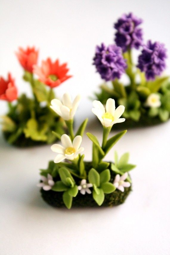polymer clay flowers realistic - Google Search