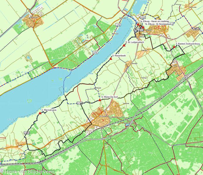 GPS-fietsroute Elburg – Nunspeet – Hierden (47 km) # Kom tot rust langs de kustlijn van de voormalige Zuiderzee. Fiets deze mooie route en laat het bijzondere landschap op u inwerken!