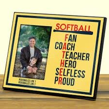 Thanks dad for coaching my softball teams