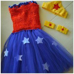 Lindo vestido de Tutu da Mulher Maravilha