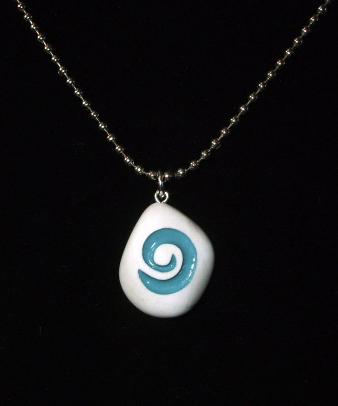 REAL STONE World of Warcraft inspired Hearthstone pendant with chain or cord