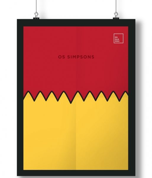 Pôster/Quadro minimalista Simpsons – Bart