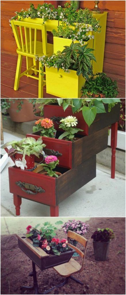 20 Brilliantly Creative Ways To Incorporate Old Furniture Into Your Garden Design