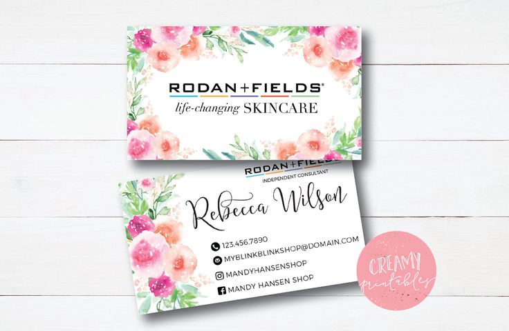 Excited to share the latest addition to my #etsy shop: Floral|Stripe|Business Card|RF Facial|Rodan and Fields Business Cards|Rodan and Fields | Rodan and Fields|Rodan Fields Business card
