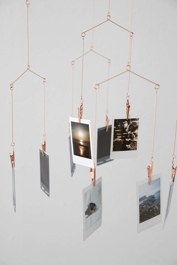 Copper Photo Holder Mobile