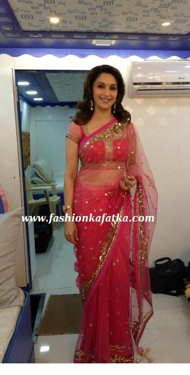 Madhuri Dixit Saree | Madhuri Dixit's Style of Saree and Salwar suits in Jhalak Dikhla Ja ...