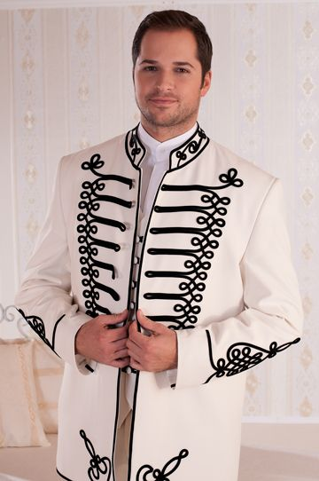 "A suit called ""Attila""- because of the typical motifs"