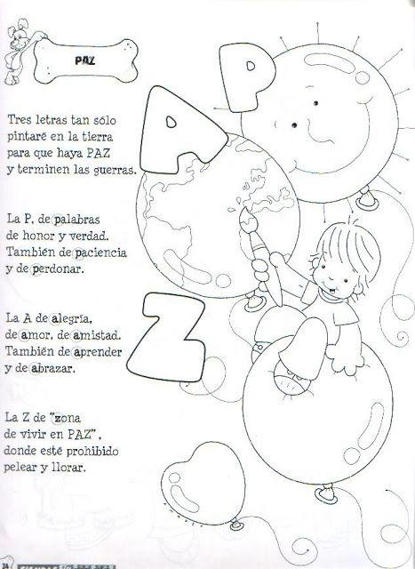 Menta Más Chocolate - RECURSOS y ACTIVIDADES PARA EDUCACIÓN INFANTIL: Poesías DÍA de la PAZ