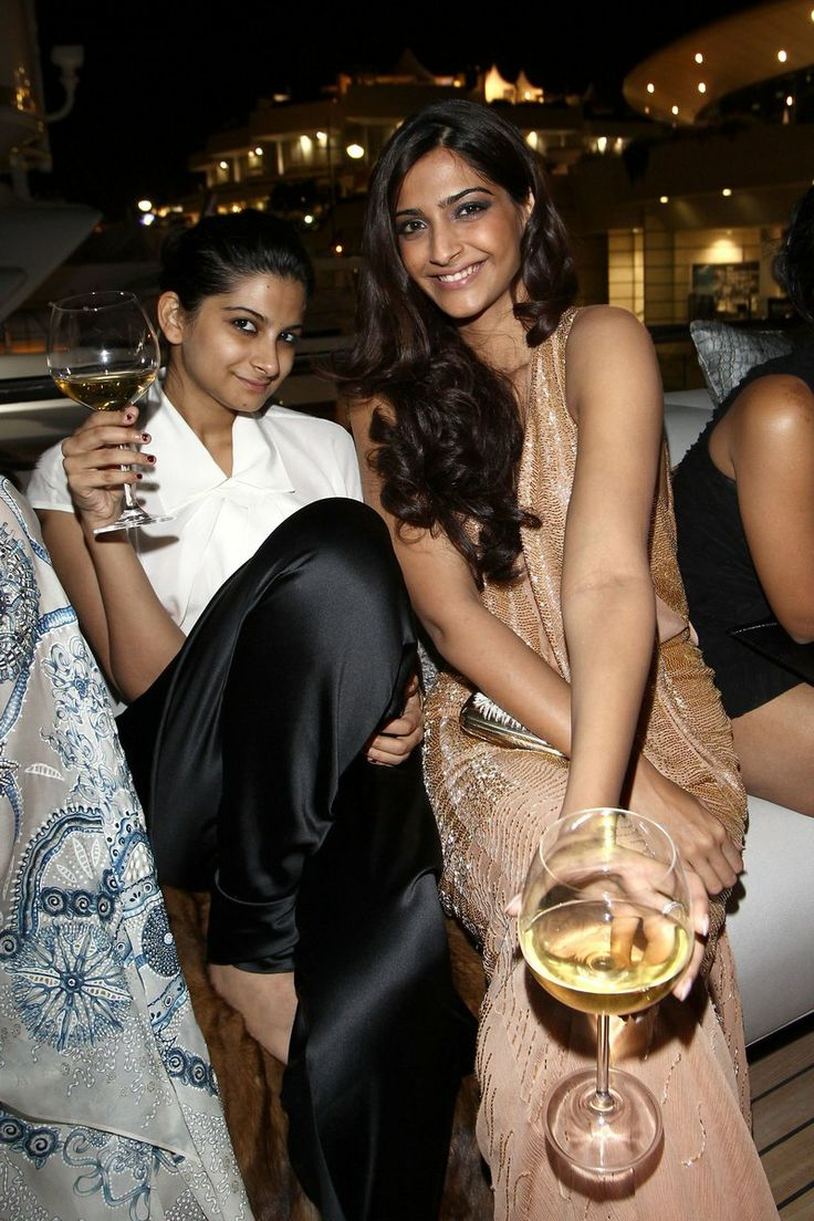Sonam Kapoor and Rhea Kapoor seen relaxing on a yacht at Cannes. #Style #Bollywood #Fashion #Beauty