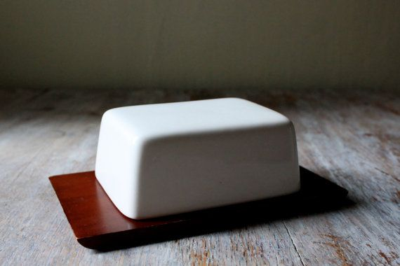 Midcentury Wood Butter Dish by FieldsForests on Etsy, $30.00