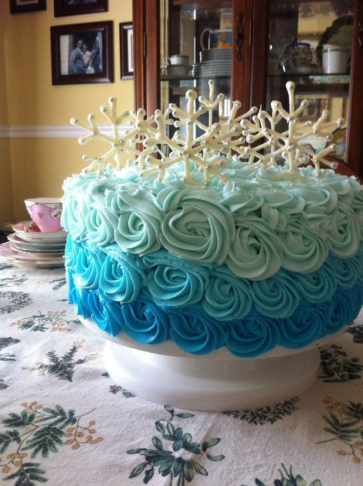 I like the ombre frosting on this one.