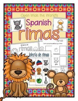 PHONOLOGICAL AWARENESS in SPANISH! This SPANISH rhyming packet targets 24 words (12 word pairs) across 4 activities. Created for Dual Language, but perfect for SPEECH THERAPY, too! ($)
