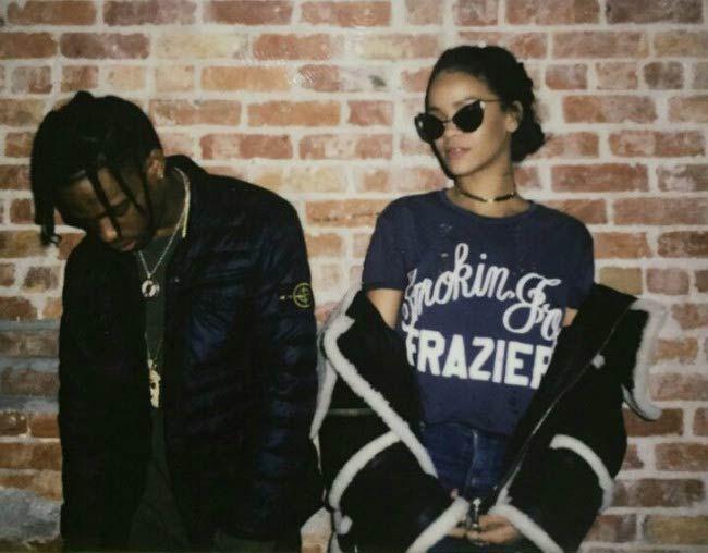 Rapper Travis Scott and Rihanna as seen in 2016...