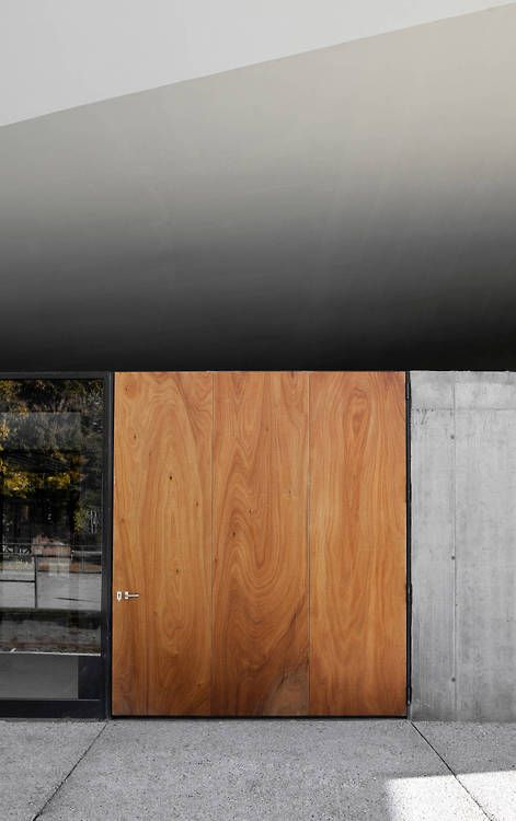 unique wooden entrance