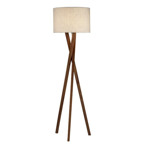 Minimalistic and modern, this chic floor lamp brings a sleek touch to any room. Pair it with traditional furnishings for stylish contrast, or set it in a midcentury room for a mod feel.