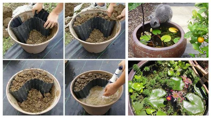 17 best images about garden on pinterest for Make your own garden pond