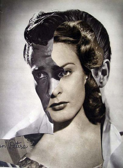 Collages in Rotterdam; John Stezaker, Film Portrait (She II), 2005, Collage, 25.5 x 19.5 cm