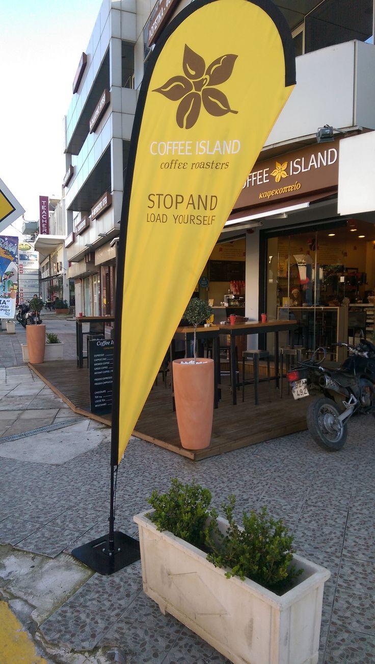 Flexi beachflags Coffee Island - Size: Medium - Product name: Drop