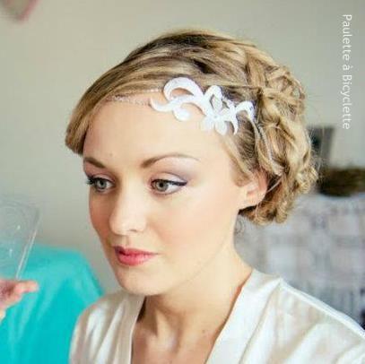 #headband #wedding #embroidery #mariage #bridal #bandeau #coiffure #mariee