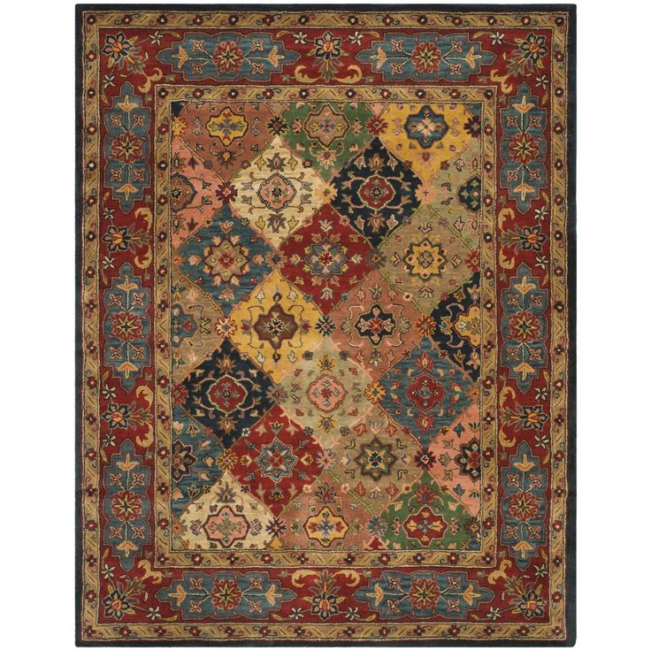 Add appeal to your hall or entryway with one of these attractive Oriental wool rugs. With its thick, dense pile, this traditional area rug is comfortable to your feet, while its cotton canvas backing ensures that it will be durable.