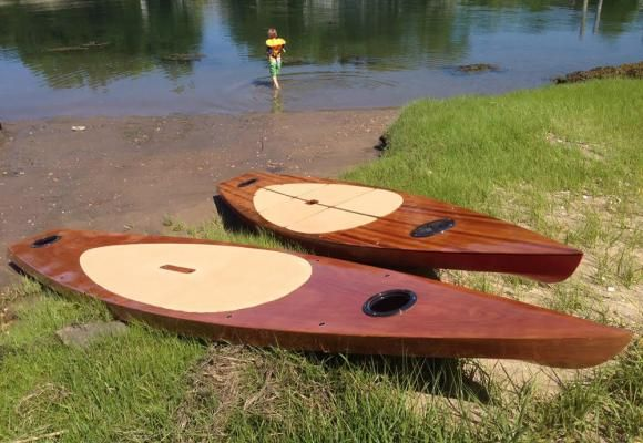 Kaholo Wood Touring Stand-Up Paddleboard Kit Built @ home kit.