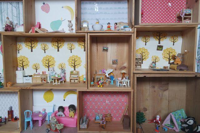 Maisons avec caisses - Dans un petit village