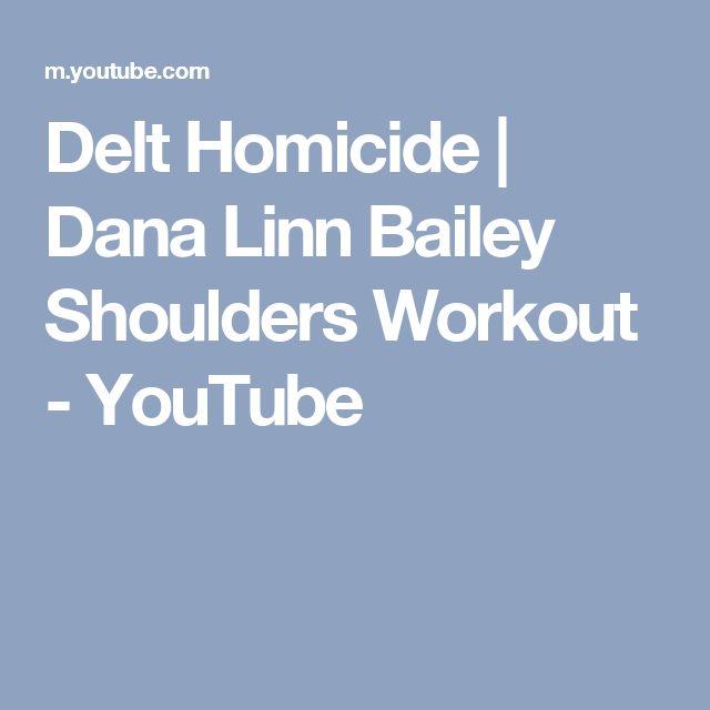 Delt Homicide | Dana Linn Bailey Shoulders Workout - YouTube
