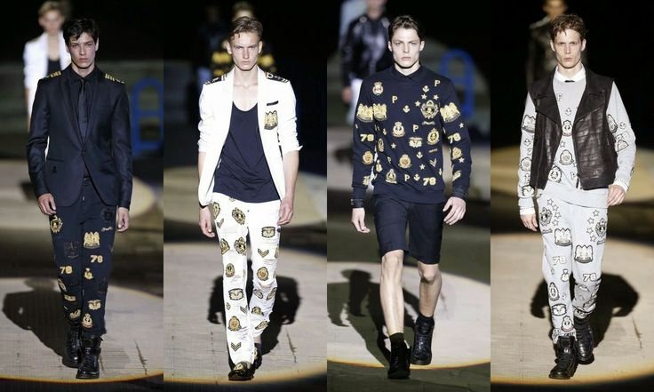 Philipp Plein  #Fashion #moda #men #hombre  http://cuchurutu.blogspot.com.es/2014/06/la-semana-de-la-moda-masculina-en-milan.html