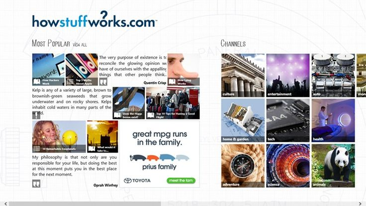HowStuffWorks // HowStuffWorks explains thousands of topics, from engines to lock-picking to ESP, with video and illustrations so you can learn how everything works.
