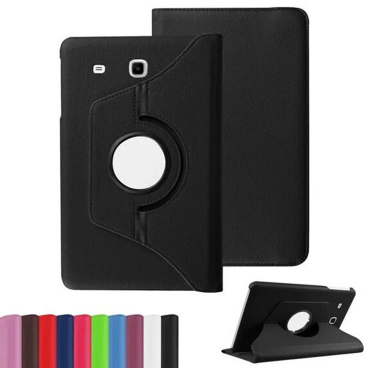 """For Samsung Galaxy Tab E 8.0 inch T375 T377 SM-T375 SM-T377 TabE 8"""" Tablet Case 360 Rotating Bracket Flip Stand Leather Cover"""