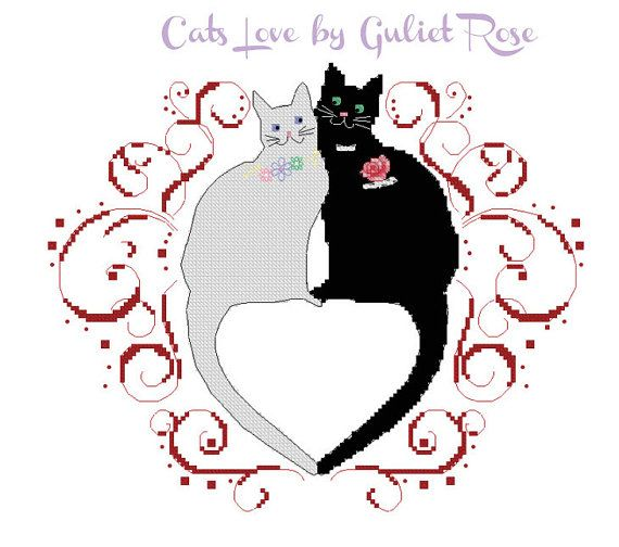 Cats Love by Guliet Rose Instant Download PDF by FancyworkDesign