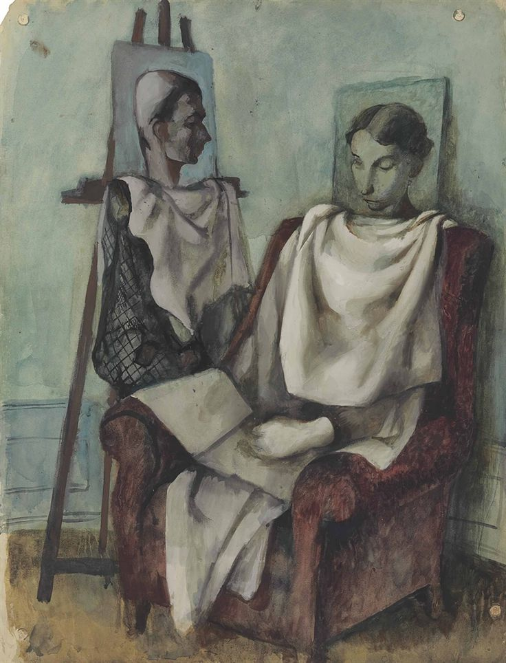 Pavel Tchelitchew (1898-1957), The composer Igor Markevich and his mother, 1932
