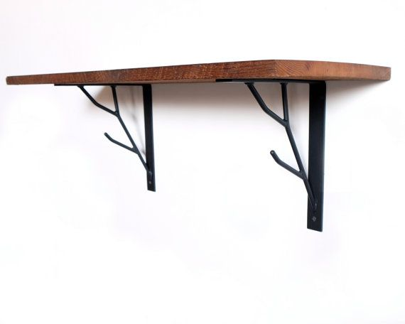 The original Branch Shelf Brackets.  This listing includes two brackets. These branch shelf brackets were inspired by natural branches and vintage