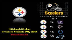 Pittsburgh Steelers Games Schedule 2017