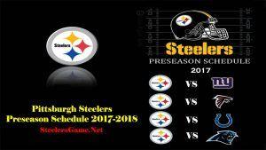 Pittsburgh Steelers Games Schedule 2017