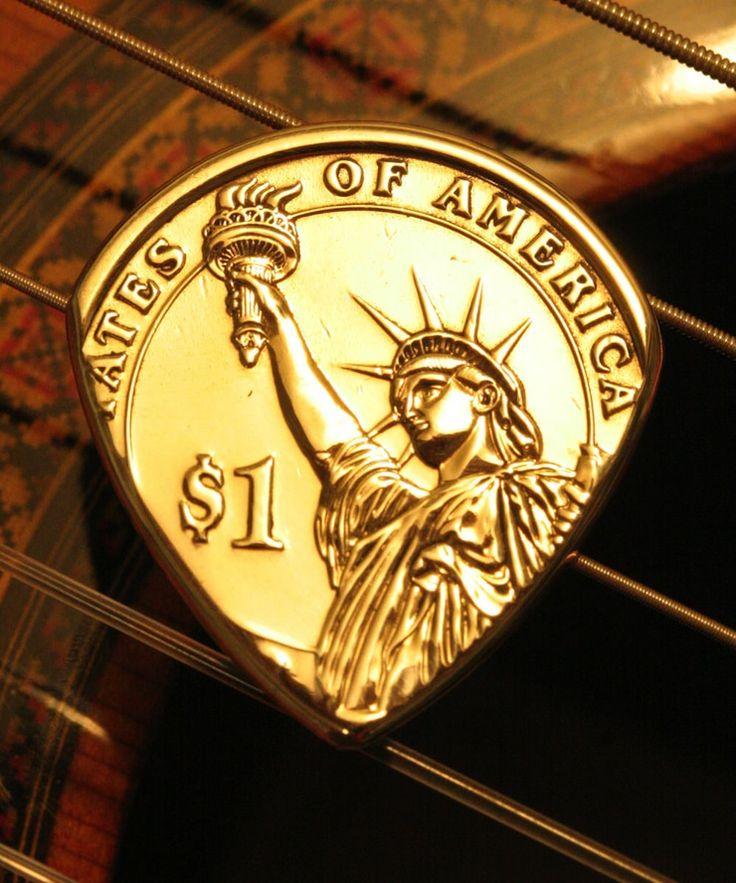 Liberty Gold Dollar Coin Guitar Pick