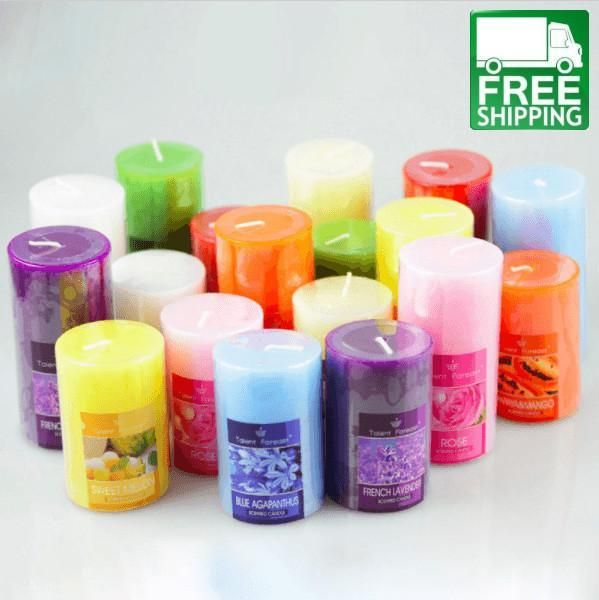 Smokeless Romantic Cylinder Aromatherapy Candles Free Shipping Carmaya Scented Candles Fragrance Aroma Candle Romantic Candles