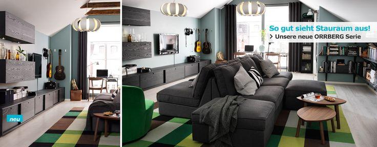 Wohnzimmer mit orrberg tv bank und kivik sofa elementen - Bank wohnzimmer ...