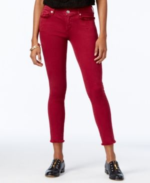 True Religion Casey Cropped Skinny Jeans - Red