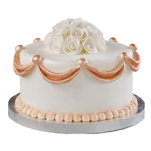 Elegant Dusting Cake | Wedding Cake Recipes With Coral Wedding Decoration   Cake Design Tips