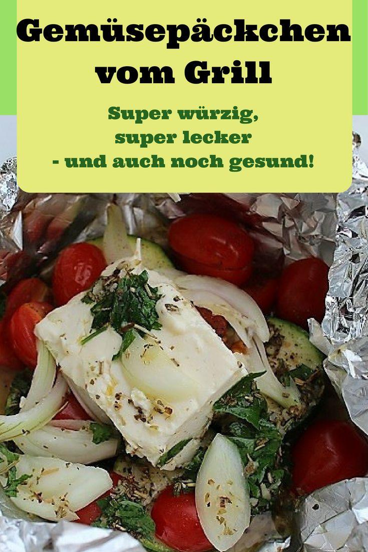 Ihr Lieben, macht mal ein bisschen Platz auf dem Grillrost zwischen Steak und Würstchen: Hier kommt nämlich mein Rezept für Gemüsepäckchen in Alufolie, toll gewürzt und mit Feta. Die stehlen dem Fleisch ohnehin die Show. Lasst es Euch schmecken! http://mama-und-die-matschhose.de/2017/05/22/leicht-und-lecker-gemuesepaeckchen-vom-grill/