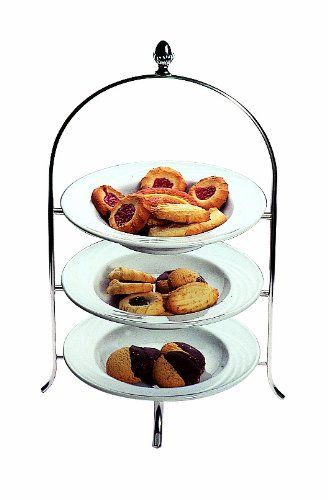 Mepra Stainless Steel Palace 3 Tier Afternoon Tea Stand