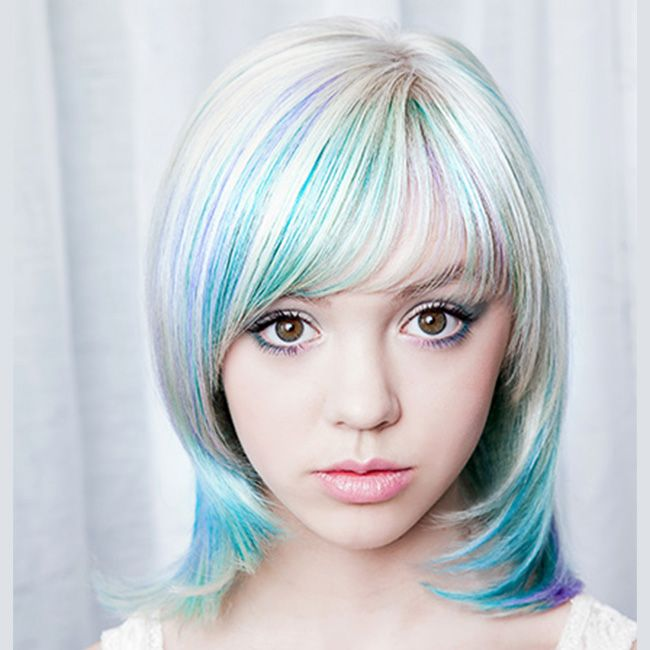 Pretty pastel colored hair from Lisa Power Salon, Seattle.