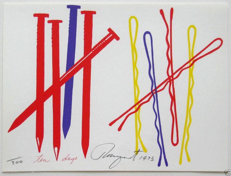 #JamesRosenquist Ten Days (Glenn 68), 1973  screenprint on 100% rag paper available at #JKLFA   Joseph K. Levene Fine Art, Ltd. on #eBay. Since 1999 Joseph K. Levene Fine Art, Ltd. has guaranteed authenticity of all fine art offered & sold on eBay.   View blue-chip art & fine art photography by #AndyWarhol, #Christo, #JimDine, #DamienHirst, #JeffKoons, #RobertIndiana, #EllsworthKelly, #RichardPettibone, #ThomasRuff, #HiroshiSugimoto. http://stores.ebay.com/Joseph-K-Levene-Fine-Art-Ltd   
