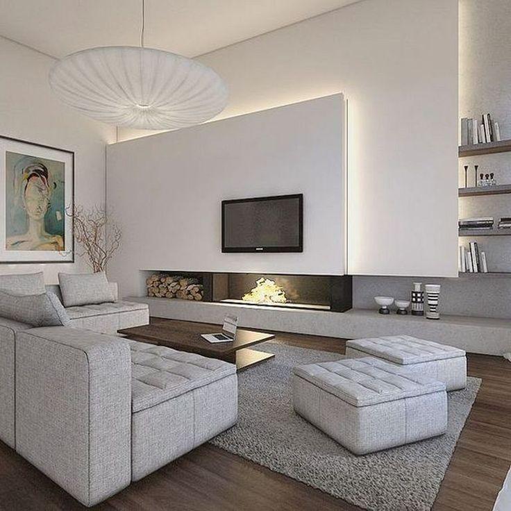 Warm Modern Living Room Ideas: 20+ Contemporary Living Room Design Ideas To Get A Warm