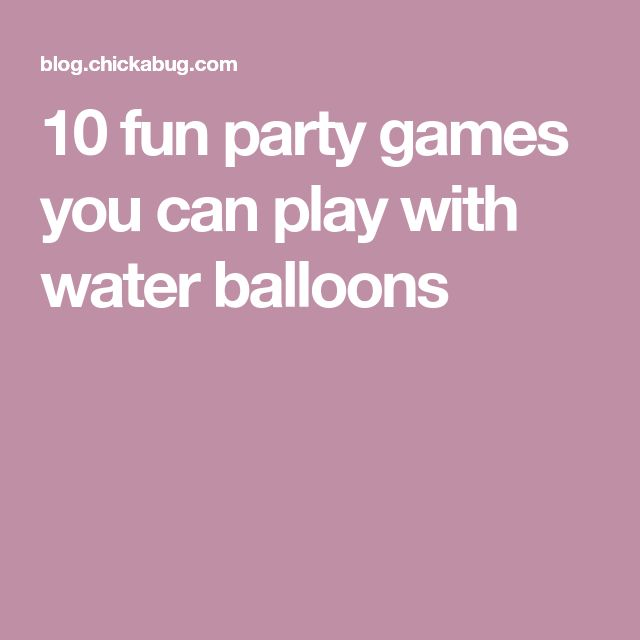 Best 25+ Water party games ideas on Pinterest Water balloons - what do you do for fun