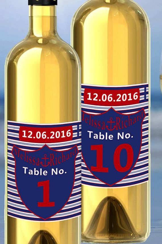Check out this item in my Etsy shop https://www.etsy.com/listing/270340597/wedding-wine-label-table-number-label
