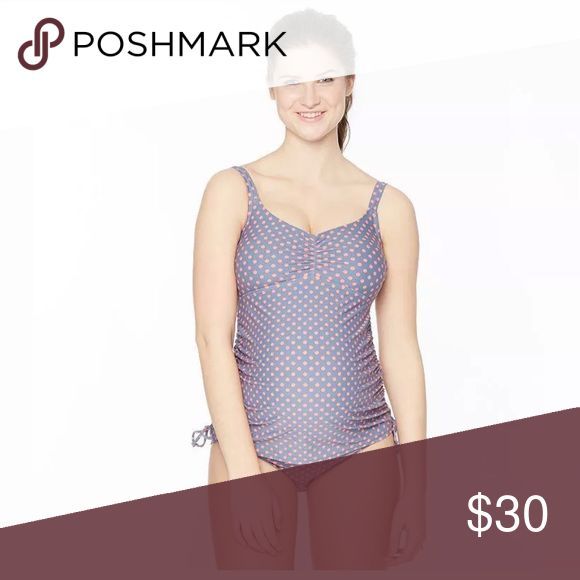 Motherhood Maternity polka dot tankini Swim set 2-piece set includes: tankini & bikini bottoms Ruched sides for an adjustable fit FIT & SIZING Adjustable shoulder straps Lightly padded bra cups FABRIC & CARE Nylon, spandex Machine wash Imported      Inventory-K31 Oh Baby by Motherhood Swim